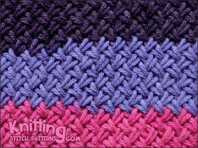 Knitting Basket Stitch : Woven basket stitch also known as diagonal basketweave