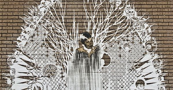 """Street art by Swoon, this piece was close to 24th Street in"