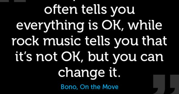 pic rock singers | Pop music often tells you everthing is OK,