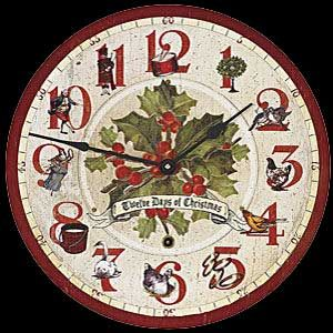 12 Days Of Christmas Clock Christmas Paper Plates Twelve Days Of Christmas Christmas Prints
