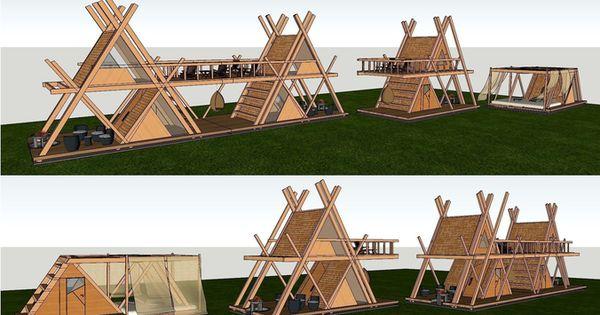 Glamping Mod Perfect For Nature Camping Resort 3d Model Max Obj Skp 5 Campingresorts Haveideer Udendors Udeliv