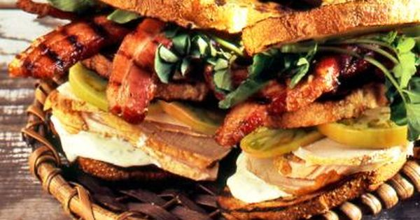 Grilled Turkey Breast with Bacon, Green Tomato with Goat Cheese-Sage ...