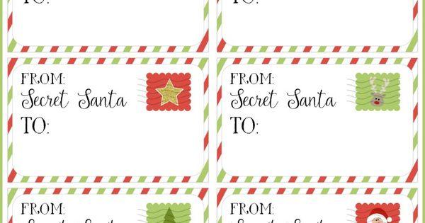 secret santa gift tags secret santa gift exchange ideas secret santa secret santa gifts and. Black Bedroom Furniture Sets. Home Design Ideas