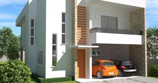 5 modelos de casas de dos pisos y tres dormitorios for Construcciones de casas modernas