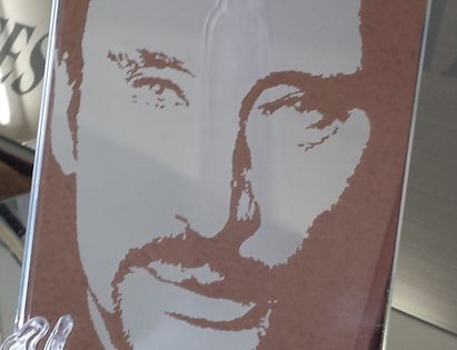 Portrait johnny hallyday portraits de stars pinterest for Miroir johnny hallyday
