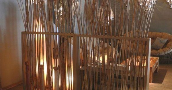 cloison et s parateurs de pi ces 44 id es d 39 am nagement cloisons bambou et rustique. Black Bedroom Furniture Sets. Home Design Ideas