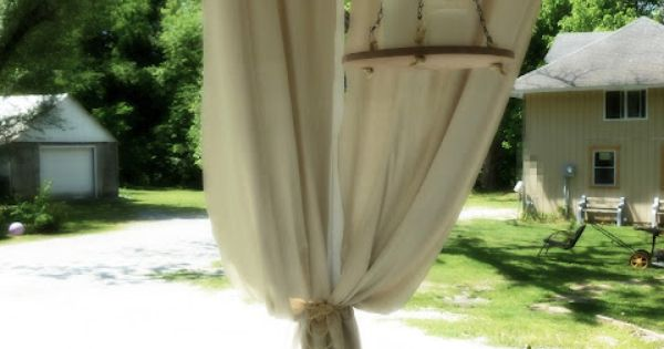 This is a great idea: a porch curtain (An Industrial Pipe Curtain