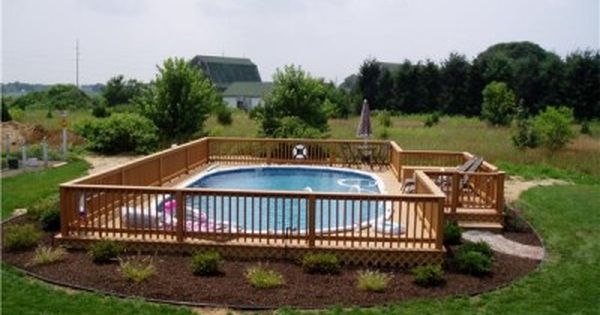 Use An Above Ground Pool As An Inexpensive In Ground Pool