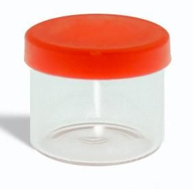 6ml Glass Container 1 Gram White Or Clear Lids Full Case Glass Containers Glass Packaging Container