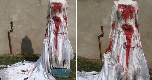 Corpse Bride Wedding Gown: Custom Made Bloody Zombie Corpse Bride Wedding Dress Gown