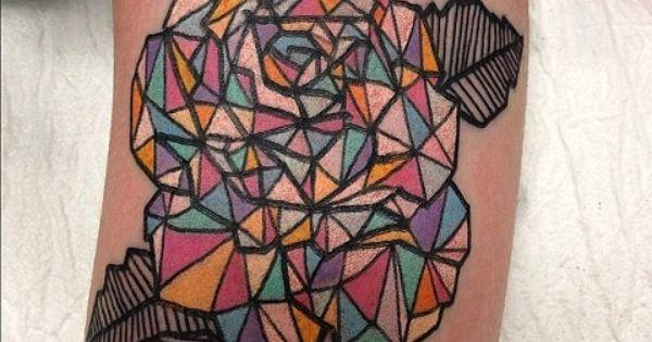 Unique rose tattoo idea