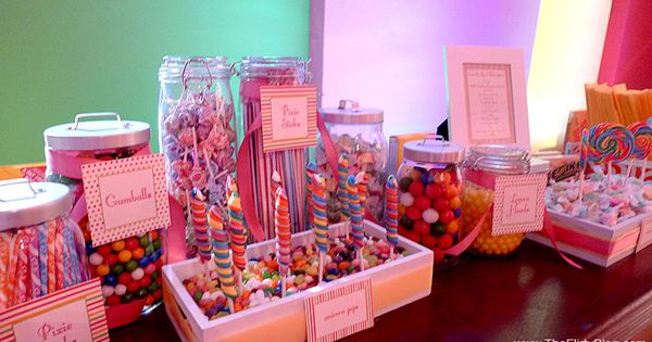 Candy party!! Cute idea