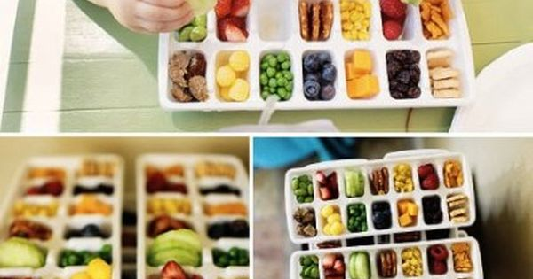 Toddler snack idea: serve a variety of healthy foods in an ice