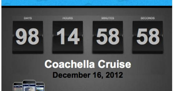 Cruising Set Up Your Cruise Countdown Clock For