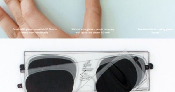 3D sticker for glasses, wow! GENIUS IDEA!!!!