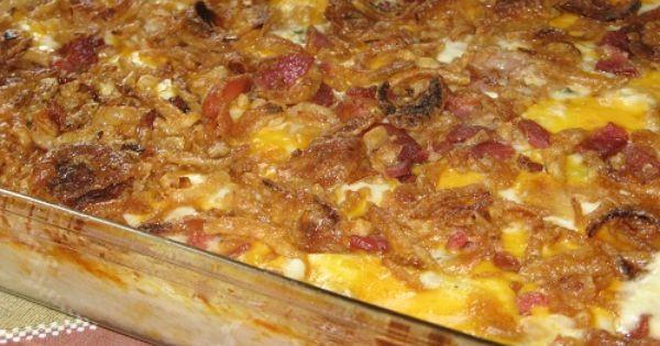 left over mashed potato casserole, sounds yummy.