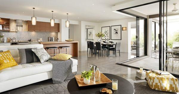 Casa de un piso moderna con hermosa fachada y dise o de - Disenos de pisos para interiores ...