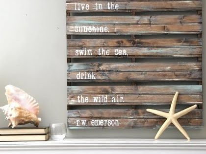 beach home decor. love the quote