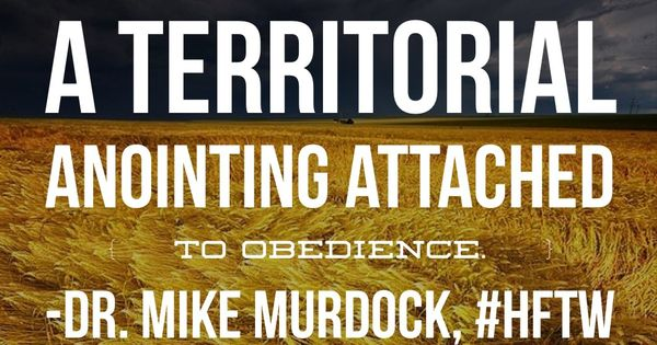 """""""There's A Territorial Anointing Attached To Obedience"""