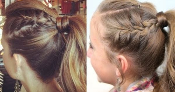 Double-French High Ponytail | Cute Ponytail Ideas {for those of us who