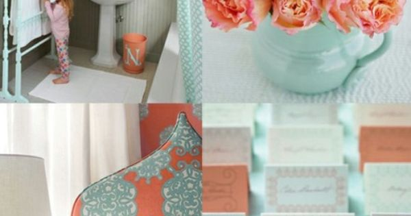 Coral turquoise. Wedding colors? Possibly!