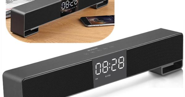 Us 46 99 Ifkoo F4 Led Alarm Clock Fm Radio Touch Control Tf Card 3 5mm Aux Bluetooth Speaker With Mic Led Alarm Clock Bluetooth Speaker Fm Radio