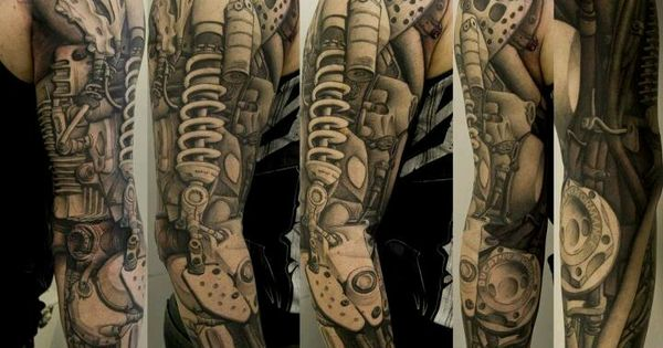 What An Awesome Robotic Arm Tattoo Sleeve Mine Pinterest An The Depths And Sleeve