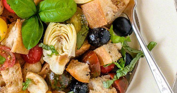 artichoke & olive panzanella salad