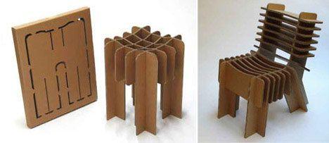 Flat Pack Cardboard Furniture Cardboard Chair Cardboard Furniture Flat Pack Furniture