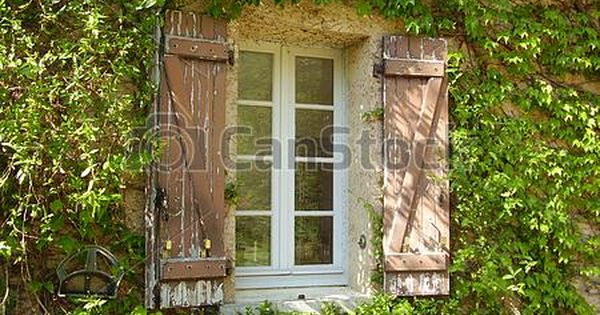 Shutters 10x15 FT Backdrop Photographers,Weathered Window with Flowers in Pot Wheels Farmhouse Rural Scene Front View Background for Baby Birthday Party Wedding Vinyl Studio Props Photography