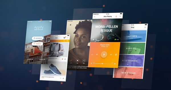 Mobile App Screens Mockup To Present Your App Design Psd File Consists Of Smart Objects Thank You For Downloading Mobile App Mobile Mockup Mockup Free Psd