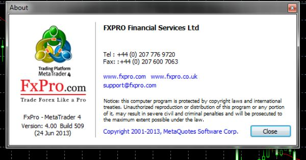 Do You Trade With Fxpro Mt4 Make Sure To Update Your Terminal