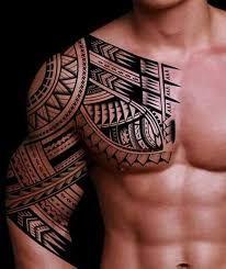 Bildergebnis Fur Tattoos Rucken Schulter Mann Polynesisches Tattoo Tattoo Motive Manner Halbarm Tattoos
