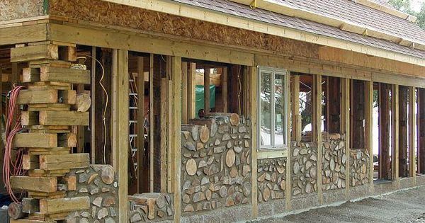 Cordwood builders most often use a post and beam framework for Cheapest construction method