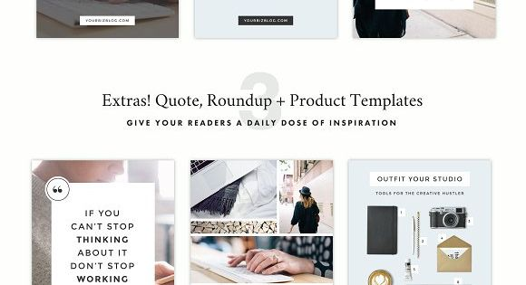 Minimalist Blog + Social Pack – save time and jumpstart your creativity