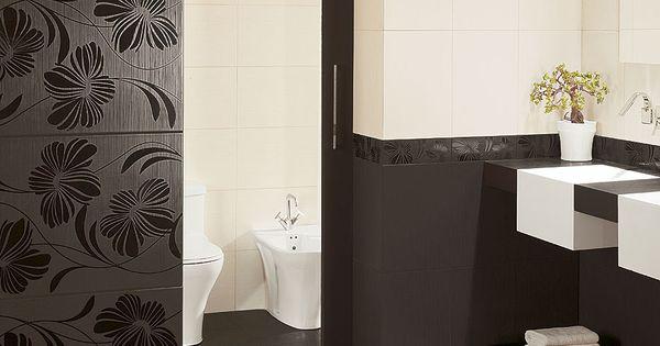 Carrelage mural de salle de bain marron beige lydia for Carrelage mural salle de bain beige