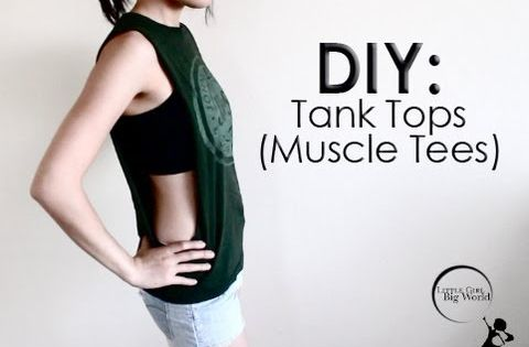 how to make a tank top into a tube top