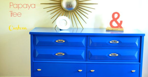 Custom Order Mid Century Dresser In High Gloss By
