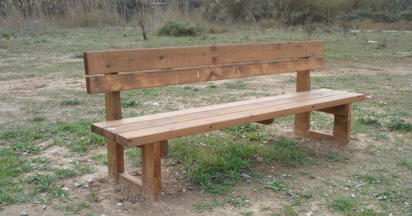 Bancos incofusta fabrica de madera en valencia bancos for Banquitas de madera para jardin