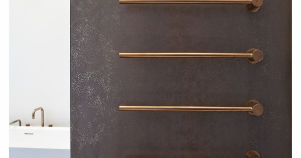 Vola T39 Heated Towel Rails In Brushed Copper Bathrooms