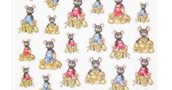 HOBBY-Design Sticker, Geld-Mäuse | Malen, basteln, spielen usw ...