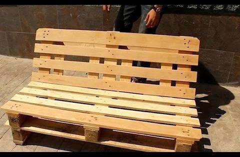 Banco de palets - Como hacer un banco de madera ...