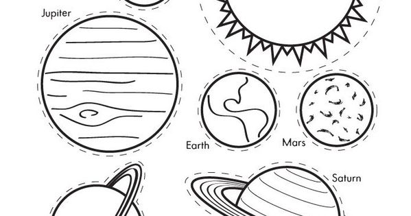 solar system cut out template - photo #18