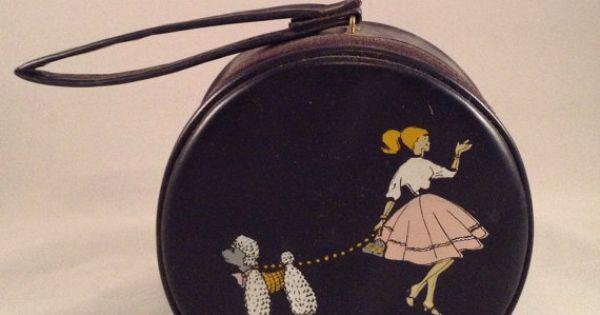 Barbie And Poodle Mini Child S Round Purse Overnight