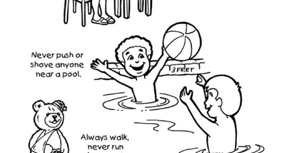 Coloring Pages For Summer Safety
