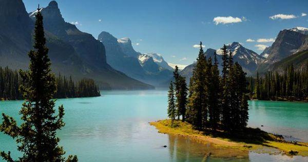 Spirit Island, Magligne Lake - Alberta, Canada - Spirit Island is a