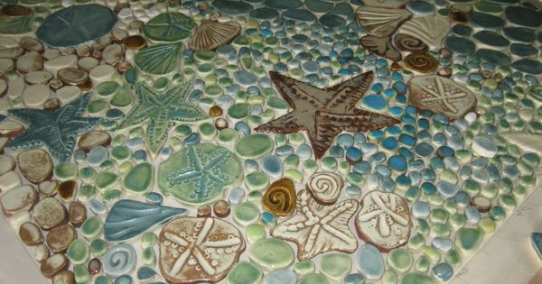 Sea Life Tile Mural Pacific Tile Wave Artisan Tile