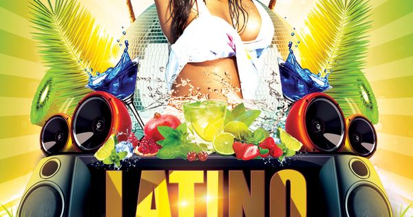 free latino night party flyer psd template by styleflyer