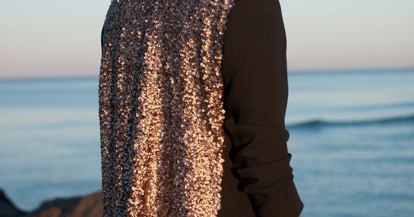 a pair and a spare . diy fashion: DIY SEQUIN BLAZER