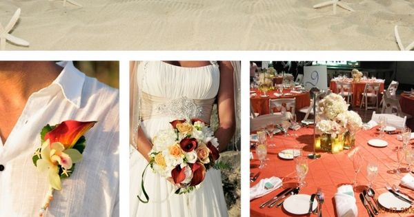 Coral beach wedding - love this coral color!